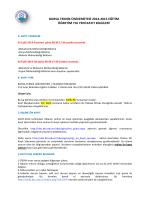 bursa teknik üniversitesi 2014-2015 eğitim öğretim yılı yeni kayıt
