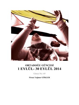 1 EYLÜL- 30 EYLÜL 2014
