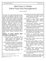 Henri Fayol ve Yönetim (Henri Fayol and