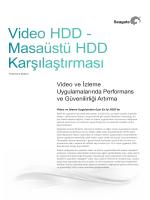 Video HDD - Masaüstü HDD Karşılaştırması