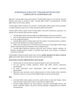 tümleşik eğitim defteri - Türk Hava Kurumu Üniversitesi