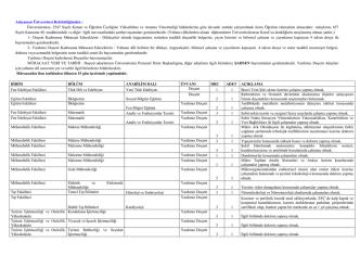 Adıyaman Üniversitesi Rektörlüğünden : Üniversitemize, 2547 Sayılı