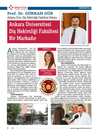 Ankara Üniversitesi Diş Hekimliği Fakültesi Bir Markadır