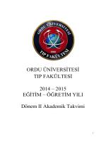 2014-2015 Eğitim-Öğretim Yılı Dönem II Ders