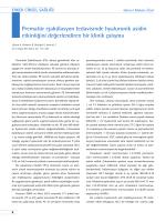 Prematür ejakülasyon tedavisinde hyaluronik asidin