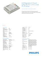 Product Leaflet: High-frequency electronic dimming ballast