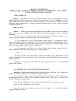 Aksaray Üniversitesi Diploma Yönergesi