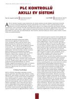 plc kontrollü akıllı ev sistemi