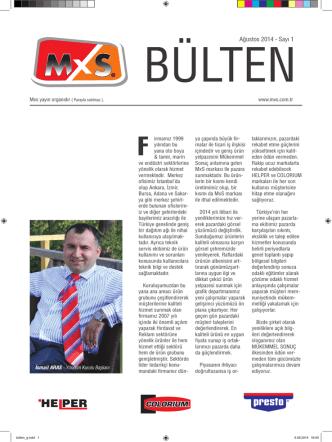Ağustos 2014 - Sayı 1