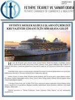 Sayı- 27 - Fethiye Ticaret ve Sanayi Odası
