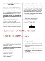 2014 FEM TG4 GENEL KÜLTÜR FACEBOOK.COM/kpsscini