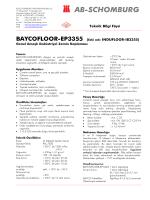 Teknik Bilgi Föyü BAYCOFLOOR-EP3355 (Eski adı - ab