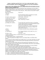 İHALE ONAY BELGESİ - Orman Genel Müdürlüğü