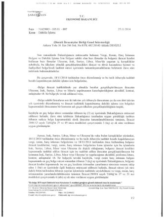 1 Sayfa - Denizli İhracatçılar Birliği Genel Sekreterliği