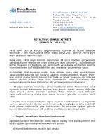 2014-57 royalty ve gümrük kıymeti