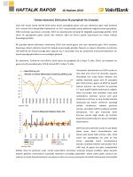 16 Haziran 2014 Haftalık Ekonomi Raporu