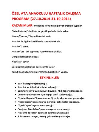27.10.2014-31.10.2014 - antakyaatakoleji.k12.tr