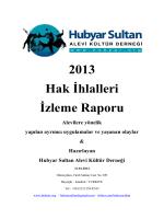 2013 Hak İhlalleri İzleme Raporu