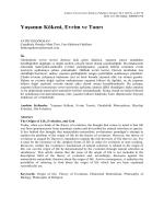 Yaşamın Kökeni, Evrim ve Tanrı - Ankara Üniversitesi Dergiler