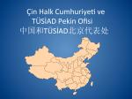 Çin Halk Cumhuriye8 ve TÜSİAD Pekin Ofisi 中国和TÜSİAD北京