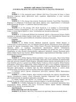 Enformatik Bölümü Eğitim - Öğretim ve İşleyiş Yönergesi