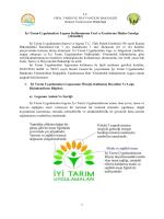 İyi Tarım Uygulamaları Logosu Kullanımının Usul ve Esaslarına