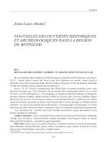 Jean-Louis Mattei Nouvelles découvertes historiques et