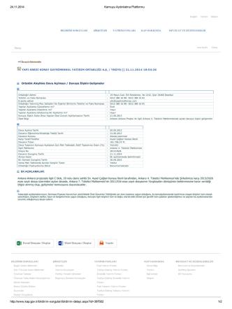 24.11.2014 Kamuyu Aydınlatma Platformu http://www.kap.gov.tr