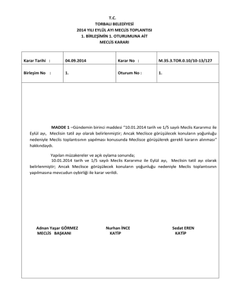 04.09.2014 tarihli meclis kararı