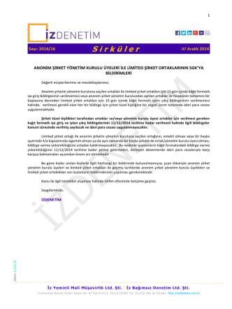 AŞ Yöneti Kurulu Üyeleri ile Ltd. Şti. Ortkalarının SGK