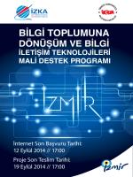 BİLGİ TOPLUMUNA - İzmir Kalkınma Ajansı