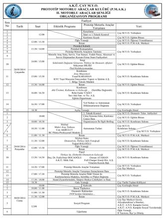 2014 akademik yılı pmak şenliği programı