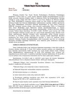 Karar No : 58 Karar Tarihi : 15/01/2014 Marmara Ereğlisi lçe Seçim