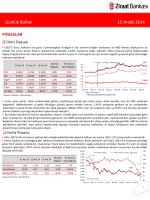 15 Aralık 2014 tarihli piyasa yorumu