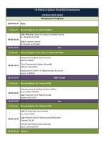 Sempozyum Programı 16. Hasta ve Çalışan Güvenliği Sempozyumu