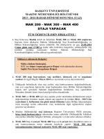 mak 300 - Mühendislik Fakültesi