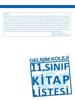 11. sınıf kitapları - Eskişehir Gelişim Koleji