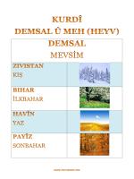 KURDI DEMSAL U MEH (HEYV) DEMSAL MEVSİM