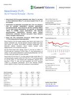 Aksa Enerji (TUT) - Garanti Yatırım