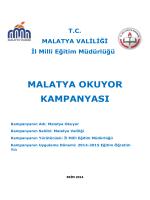 malatya okuyor kampanyası - Tepebaşı İlçe Milli Eğitim Müdürlüğü