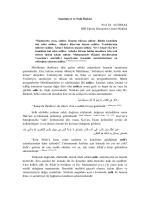 Samimiyet ve Sıdk İlişkisi Prof. Dr. Ali ERBAŞ DİB