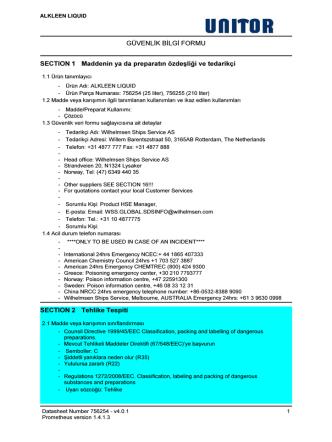 alkleen lıquıd - Wilh. Wilhelmsen Group