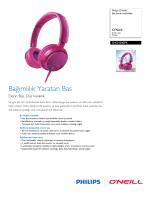 SHO4300PK/00 Philips Baş bantlı kulaklıklar