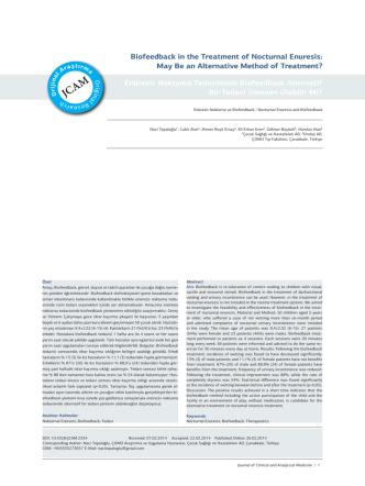 Biofeedback in the Treatment of Nocturnal Enuresis