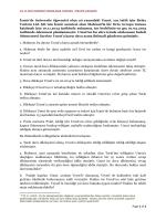 medeni yargılama hukuku ı pratik çalışma (07.11.2014)