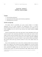 BLGM 343 – DENEY 8* Amaçlar TCP ile veri alışverişi
