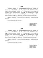 İ L A N 10.10.2014 Tarih ve 414 Sayılı Belediye Meclis Kararı ile