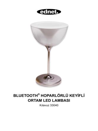 bluetooth hoparlörlü keyifli ortam led lambası