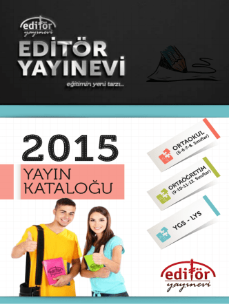 2015 Yayın Kataloğu (PDF)