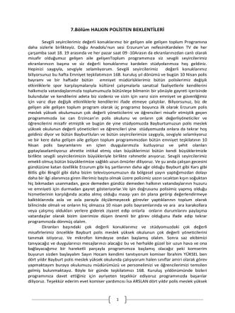 7.Bölüm HALKIN POLİSTEN BEKLENTİLERİ
